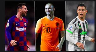 Lionel Messi, Wesley Sneijder, Cristiano Ronaldo