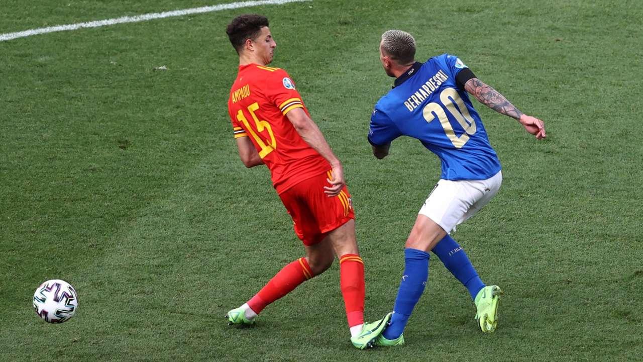 Ethan Ampadu Federico Bernardeschi Italy vs Wales Euro 2020