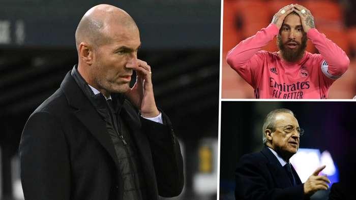 Zinedine Zidane Sergio Ramos Florentino Perez Real Madrid GFX