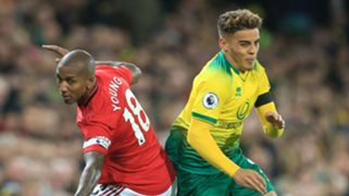 Max Aarons Ashley Young Norwich vs Man Utd 2019-20