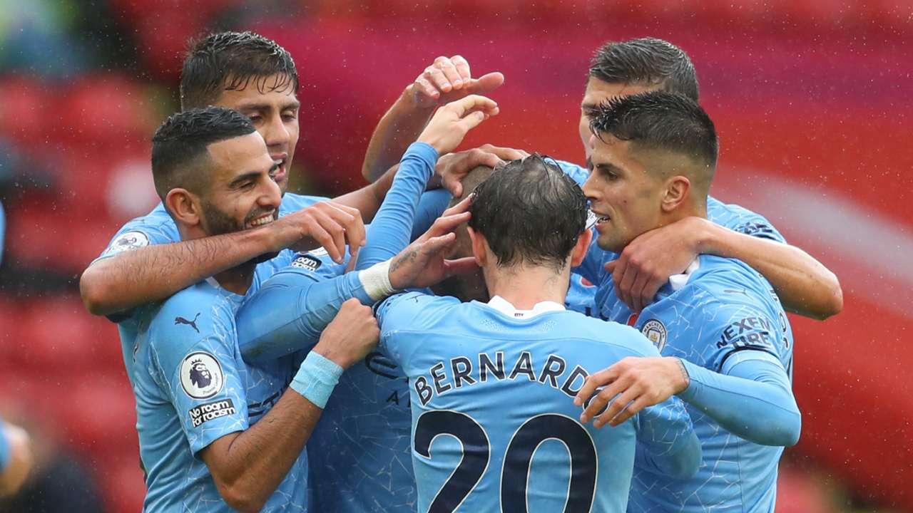Kyle Walker goal Manchester City Sheffield United 2020-21
