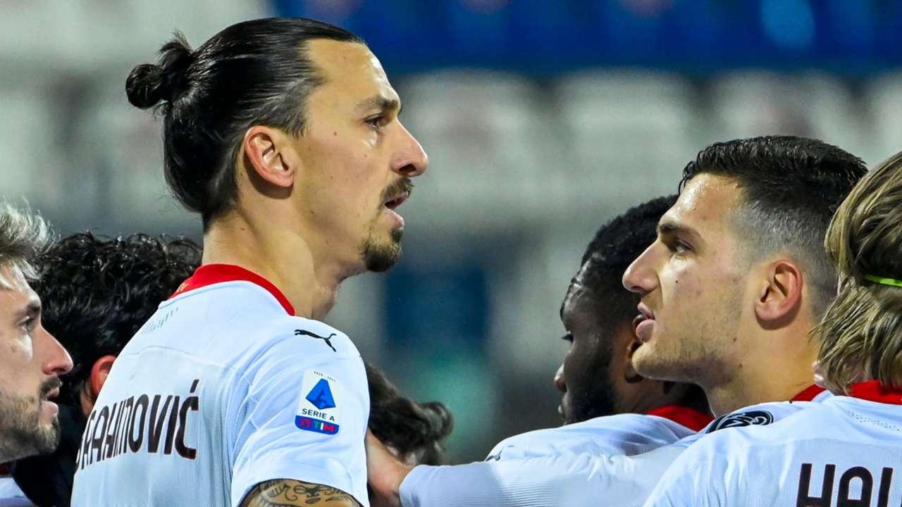 AC Milan celebrate Ibrahimovic goal vs Cagliari, Serie A 2020-21