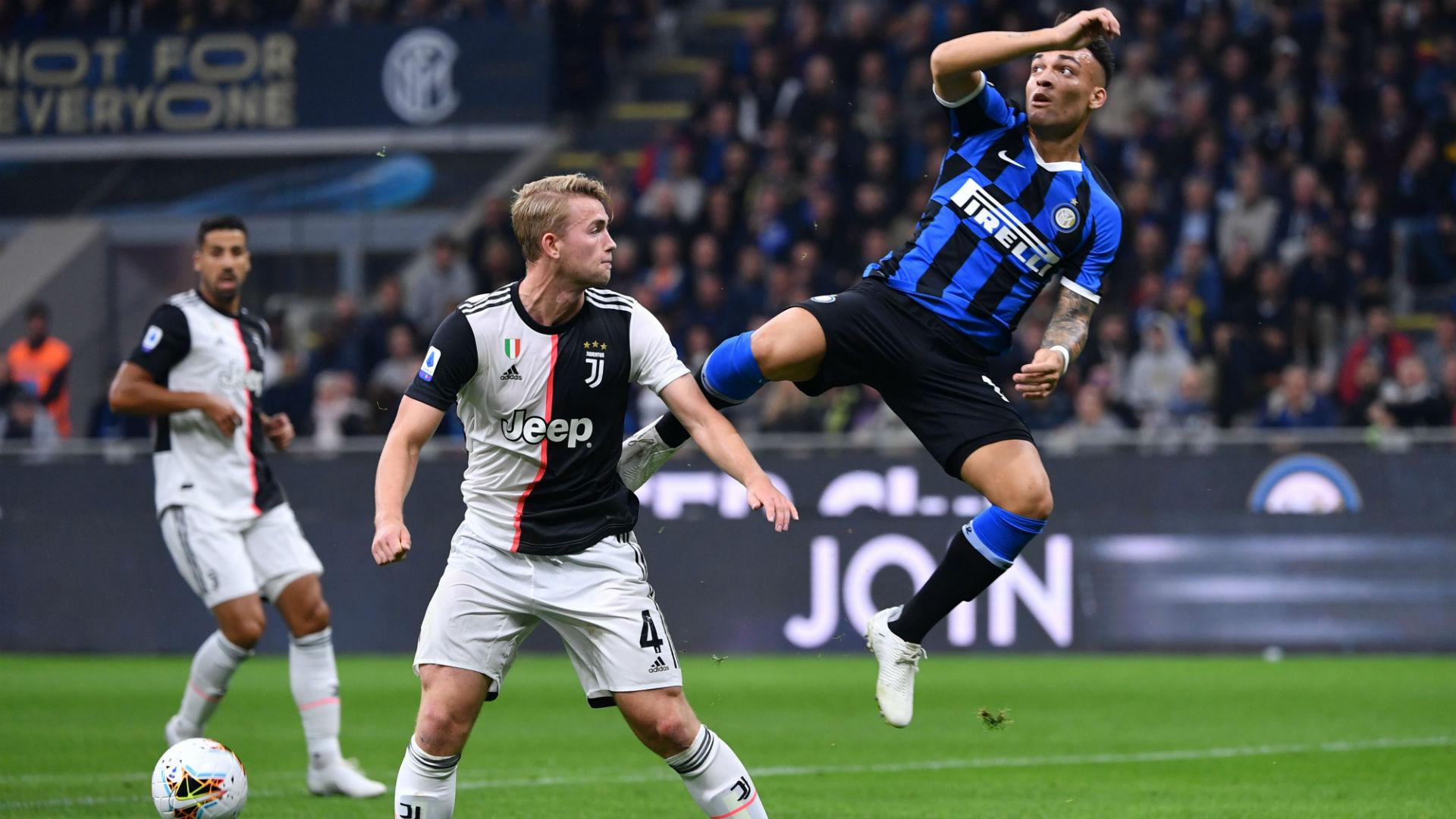 De Ligt Lautaro Martinez Inter Juventus Serie A