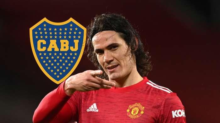 Edinson Cavani Manchester United Boca GFX