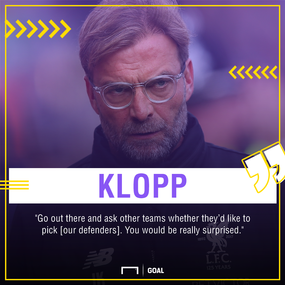 Jurgen Klopp Liverpool defenders PS
