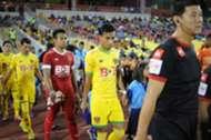 Kedah's Baddrol Bakhtiar leads his team out of the tunnel 2016