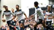 Tottenham celebrate v Bournemouth