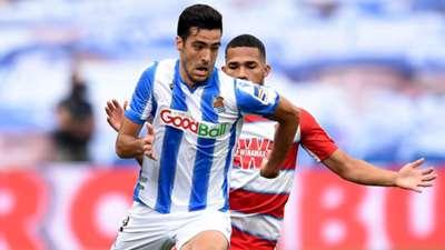 Mikel Merino y Yangel Herrera, en el Real Sociedad vs. Granada