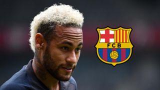 Neymar, Barcelona logo