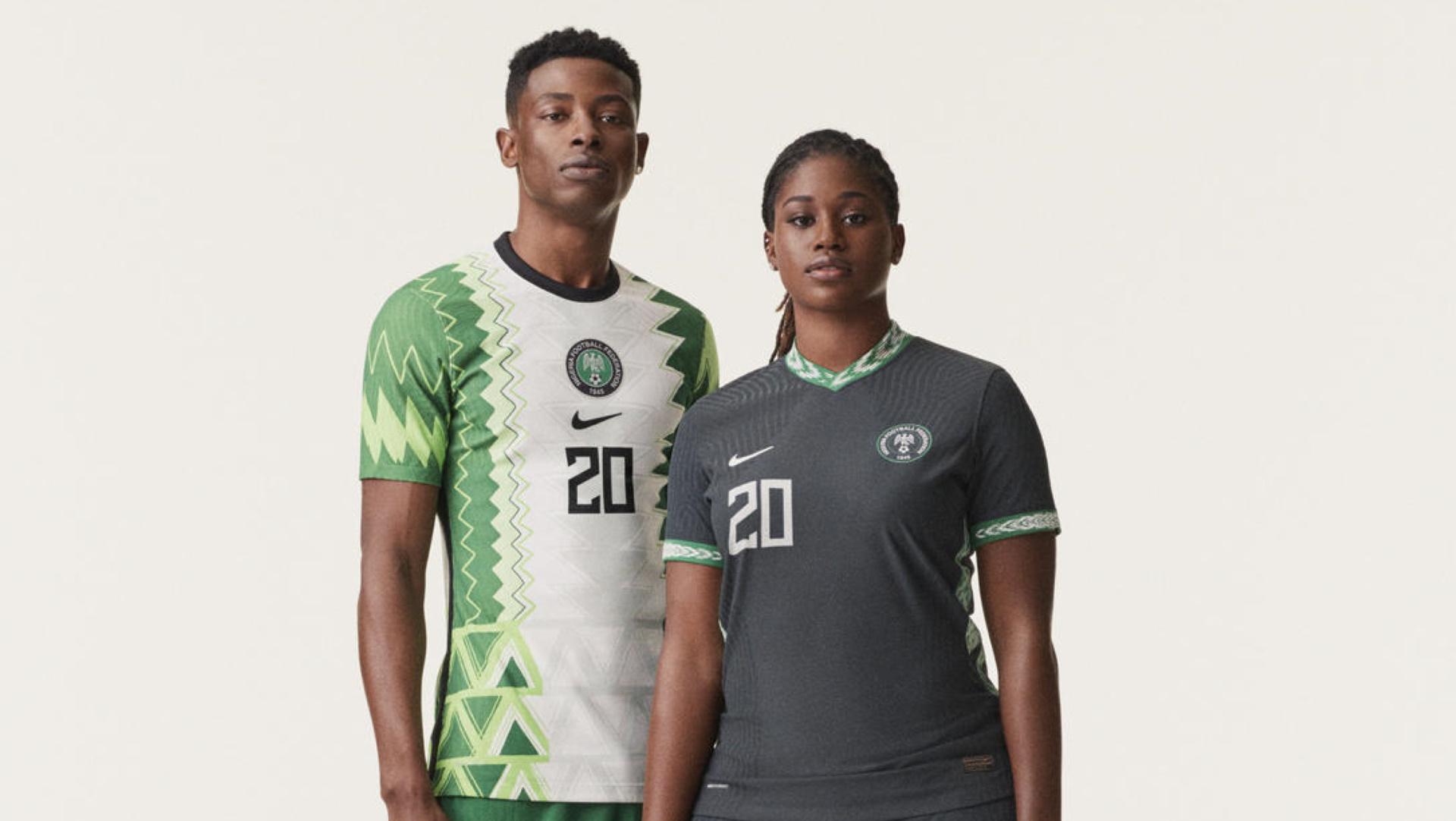 Empresario profundo Seguro  Nigeria kits: Nike unveil dazzling new 'Swoosh' design | Goal.com