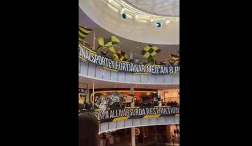 VIDEO: AIK-Solna-Fans stürmen Einkaufszentrum und protestieren gegen Corona-Restriktionen | Goal.com