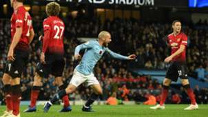 David Silva Manchester City vs Manchester United Premier League 2018-19