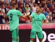 Hazard Benzema Real Madrid Salzburgo