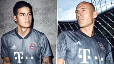 James Rodriguez Arjen Robben Bayern Third Kit 2018-19
