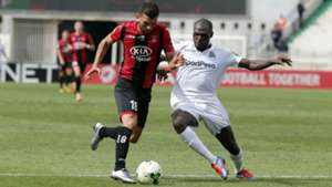 Gor Mahia defender Joash Onyango v USM Alger away.