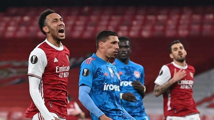Aubameyang Arsenal Olympiakos 2021