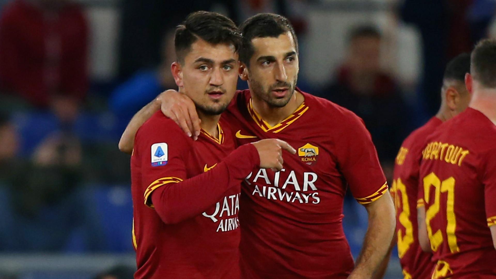Cengiz Under Henrikh Mkhitaryan Roma 2019-20