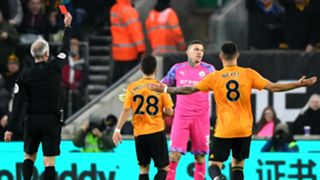 Ederson red card Manchester City Wolves