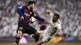 Lionel Messi Dani Carvajal Real Madrid Barcelona La Liga 2019