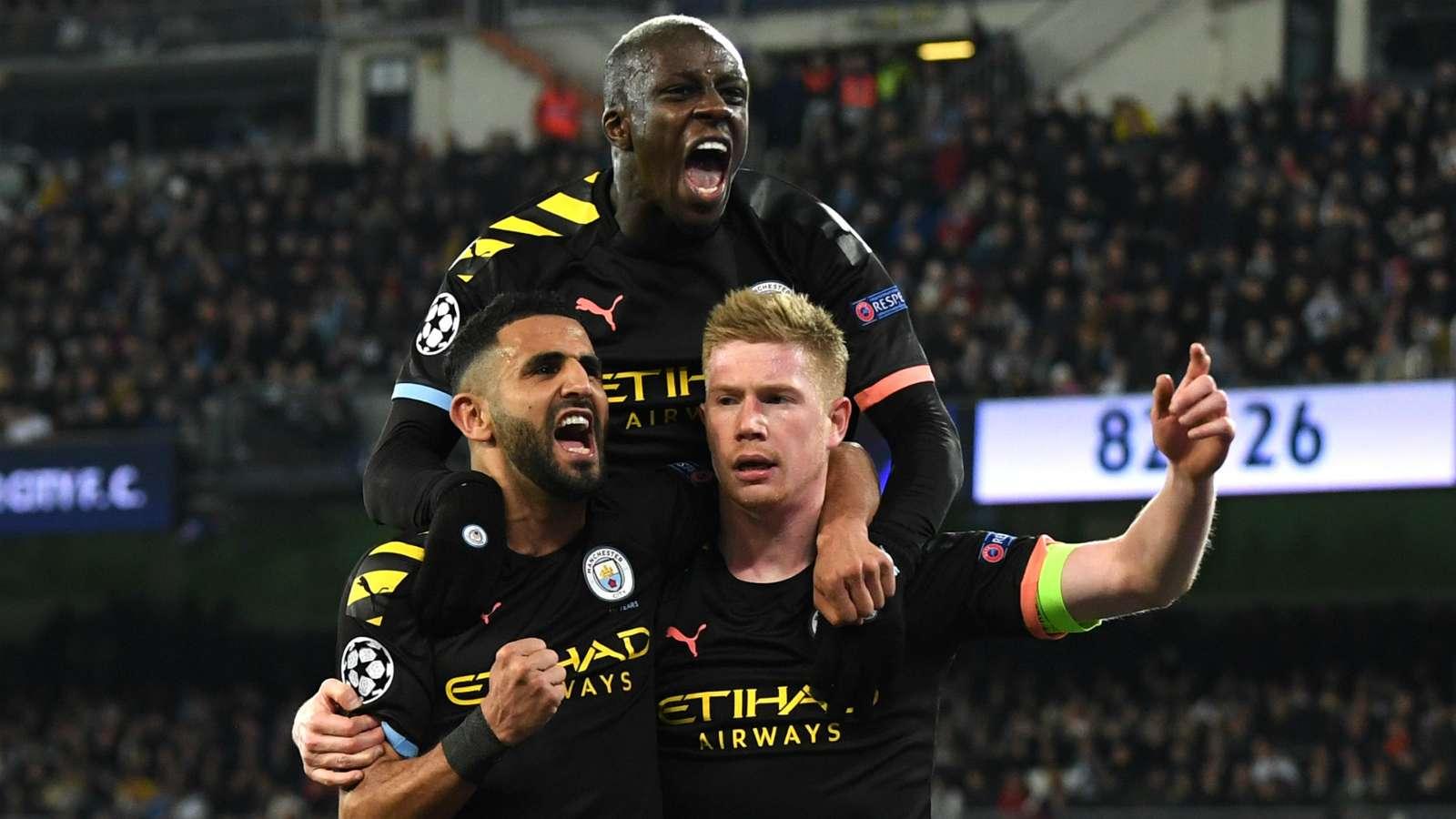 Manchester City celebrate 2019-20