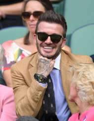 David Beckham at the Wimbledon 2019