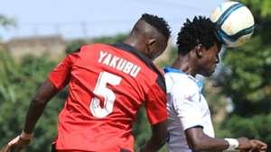 Ramadhan Yakubu of AFC Leopards v Rey Omondi of Thika United