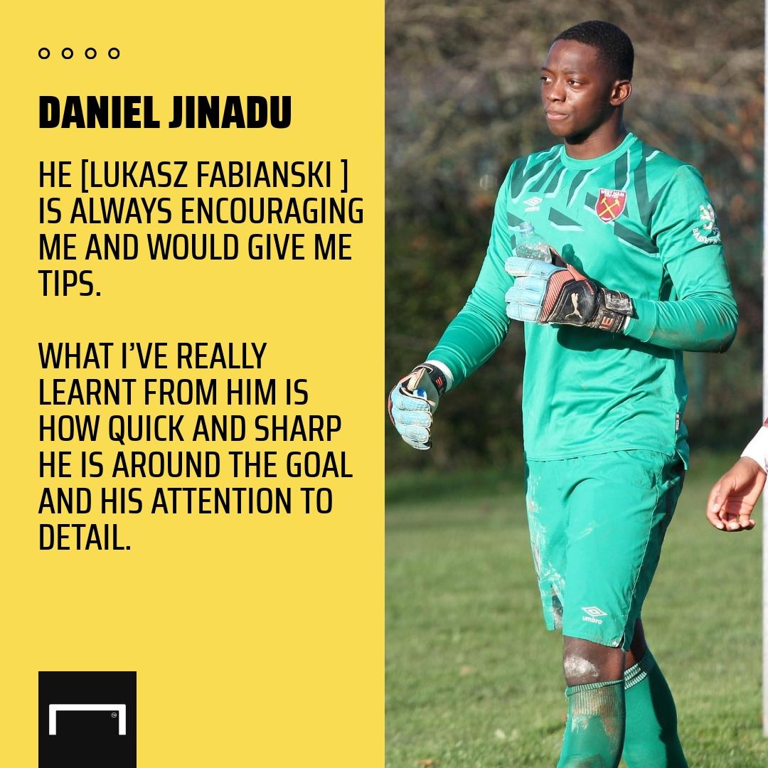 'He is so encouraging' - West Ham's Jinadu reveals Fabianski inspiration