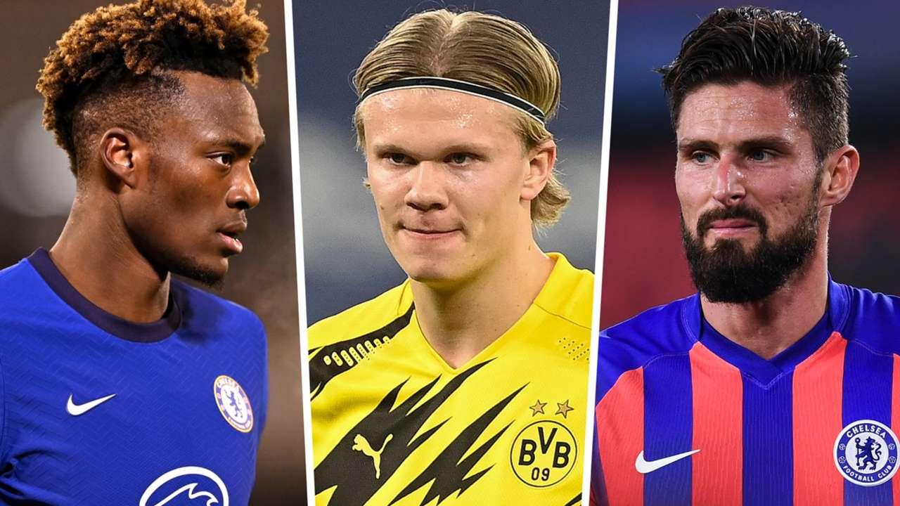 Tammy Abraham Erling Haaland Olivier Giroud Chelsea Dortmund GFX