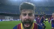 Gerard Pique Barcelona Sevilla Copa del Rey 2021