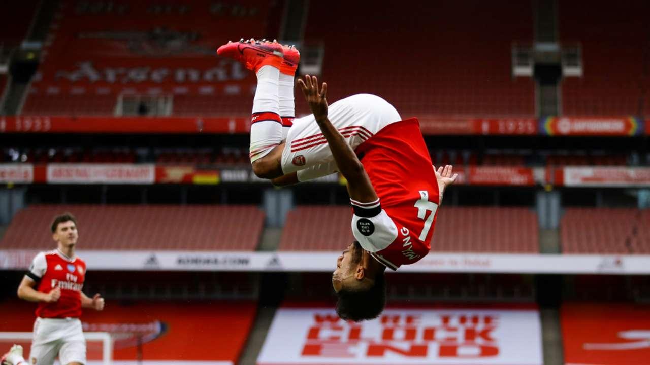 Pierre-Emerick Aubameyang Arsenal vs Norwich 2019-20