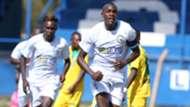 George Maelo of Sofapaka celebrates Mathare Unuted goal