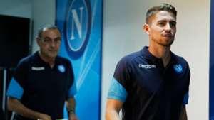 Maurizio Sarri and Jorginho Napoli