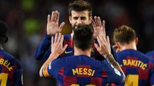 Gerard Pique Lionel Messi Barcelona
