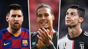 Lionel Messi, Virgil van Dijk, Cristiano Ronaldo