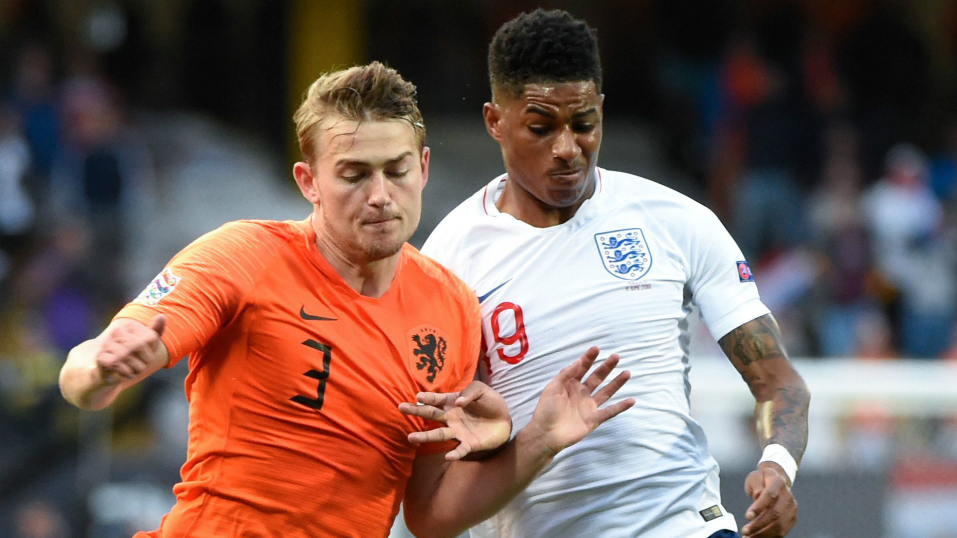 Matthijs de Ligt Marcus Rashford Netherlands England 2019