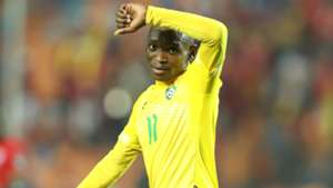 Khama Billiat of Zimbabwe celebrates goal during the 2019 Africa Cup of Nations Finals match between Uganda.