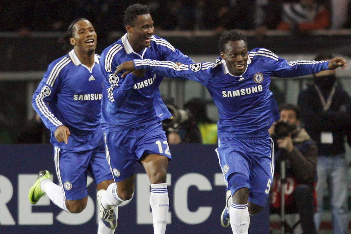 Image result for didier drogba essien mikel 2012 champions league final