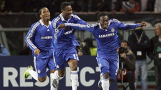 Chelsea's Drogba, Essien and Mikel