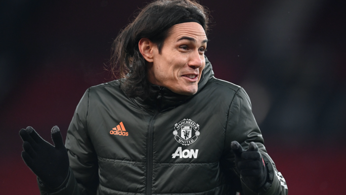Edinson Cavani Manchester United West Ham 2020-21