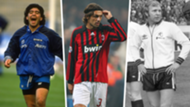 Retired shirt numbers Maradona Maldini Moore