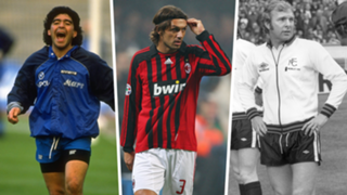 Retired shirt numbers Maradona Maldini Moore