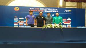 Jumpa pers timnas Indonesia U-22 di Hotel Al Meroz, Bangkok