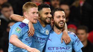 De Bruyne Mahrez Bernardo Silva Manchester City United