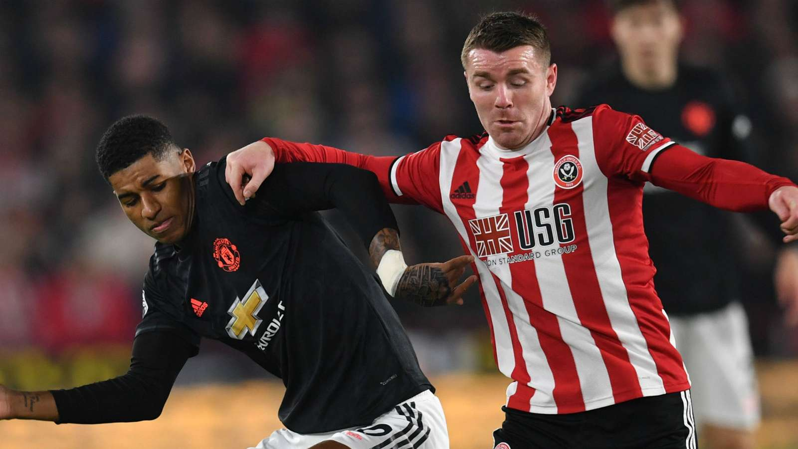 Marcus Rashford John Fleck Manchester United Sheffield United 2019-20
