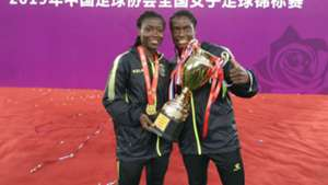 Tabitha Chawinga and Elizabeth Addo