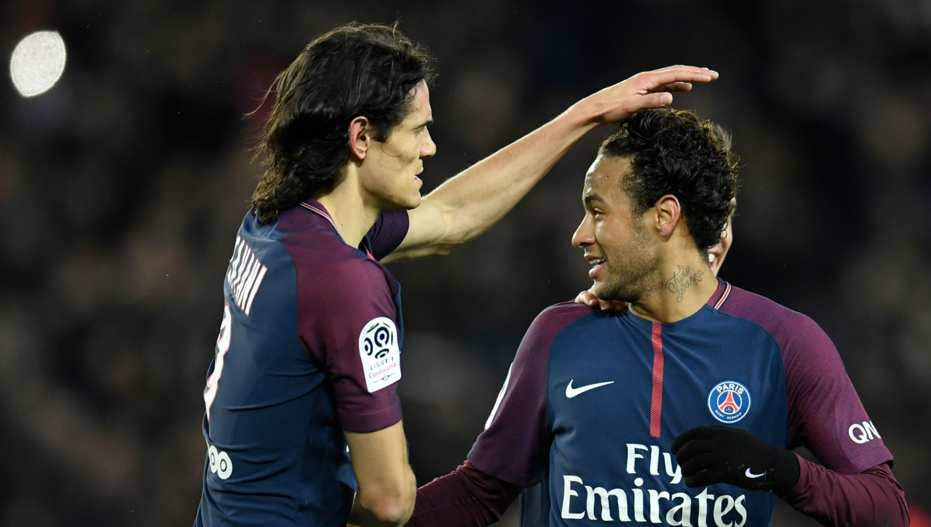 Edinson Cavani Neymar Paris Saint-Germain Dijon