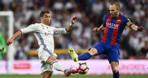 Cristiano Ronaldo Andres Iniesta Real Madrid Barcelona LaLiga 23042017