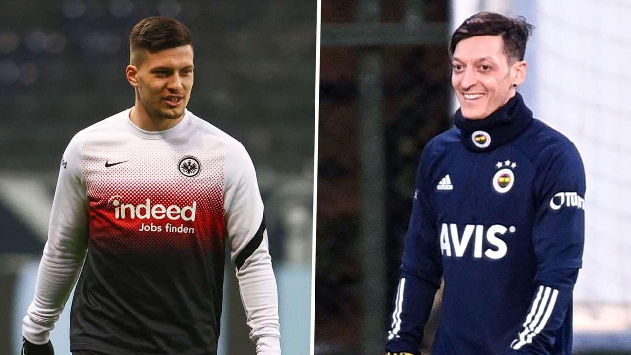 Luka Jovic Mesut Ozil 2020-21