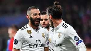 Karim Benzema Gareth Bale Viktoria Plzen Real Madrid Champions League 2018-19