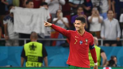 Cristiano Ronaldo joie but Portugal France